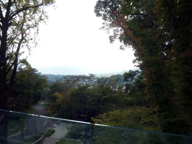 竈門神社 社務所裏 展望台からの眺め