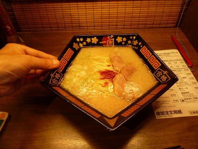 太宰府参道の一蘭の合格ラーメン